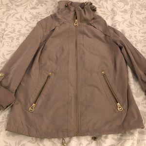 Michael Kors XS Rain Jacket with Gold Zippers